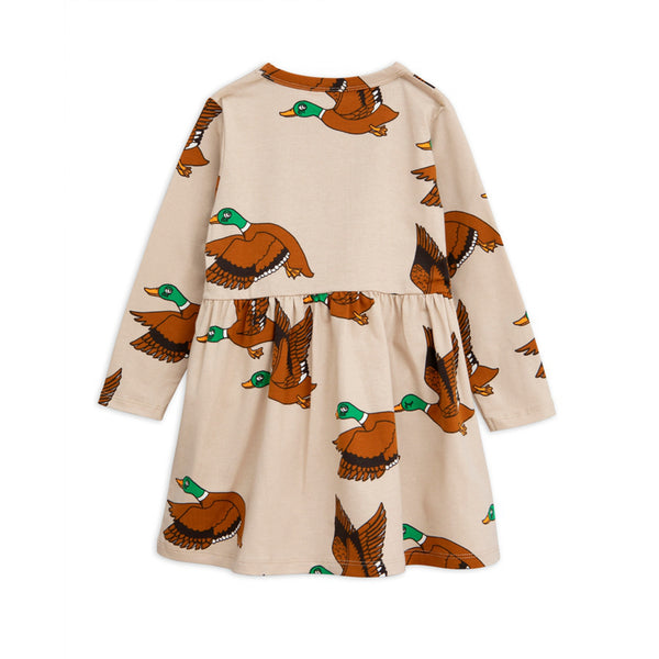 Girls Beige Organic Cotton Dress