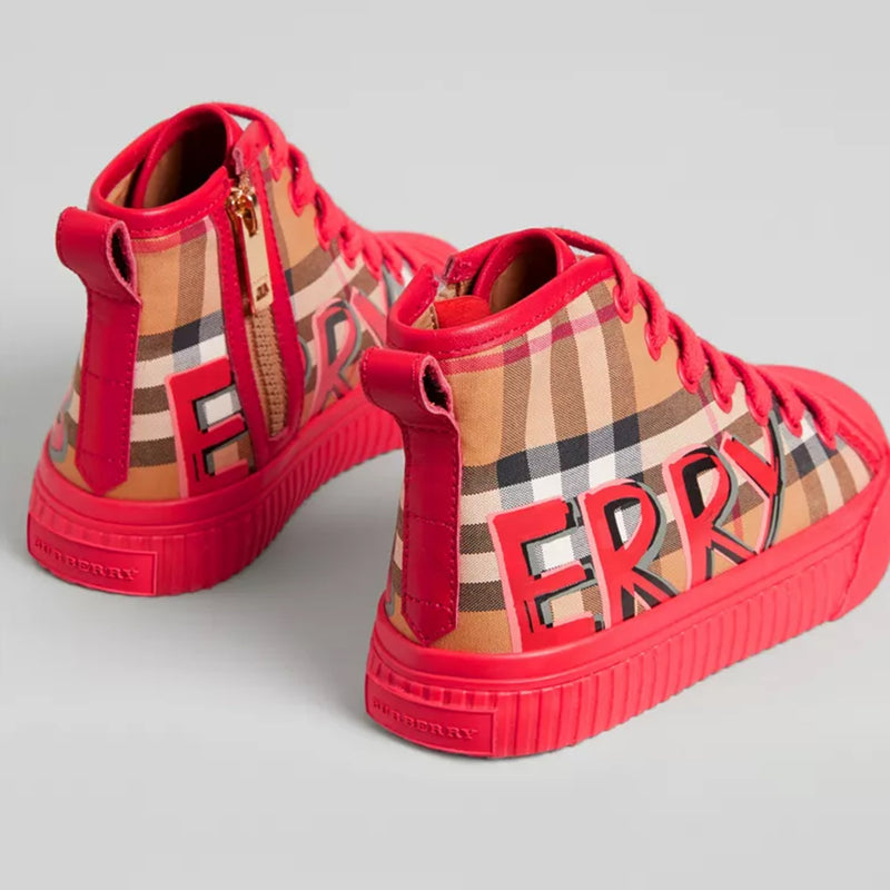 Girls Bright Red Cotton Shoes