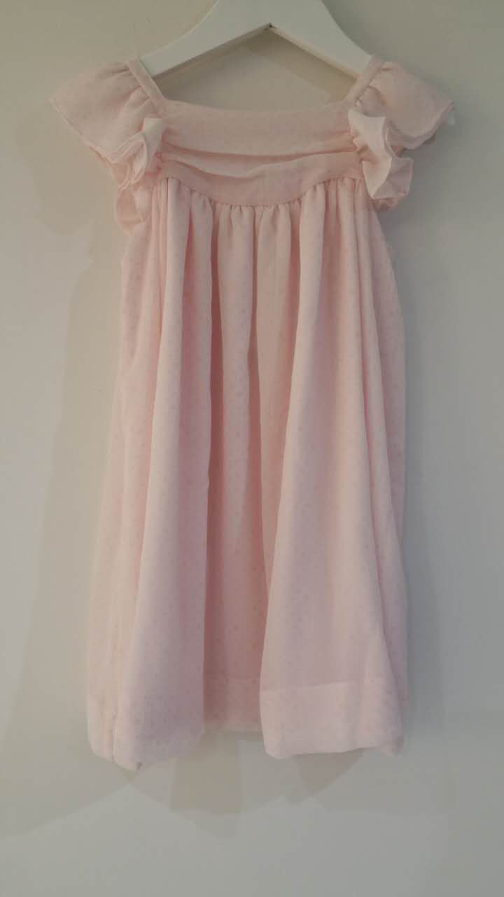 Baby Girls Pink Dress With Flared Hem - CÉMAROSE | Children's Fashion Store