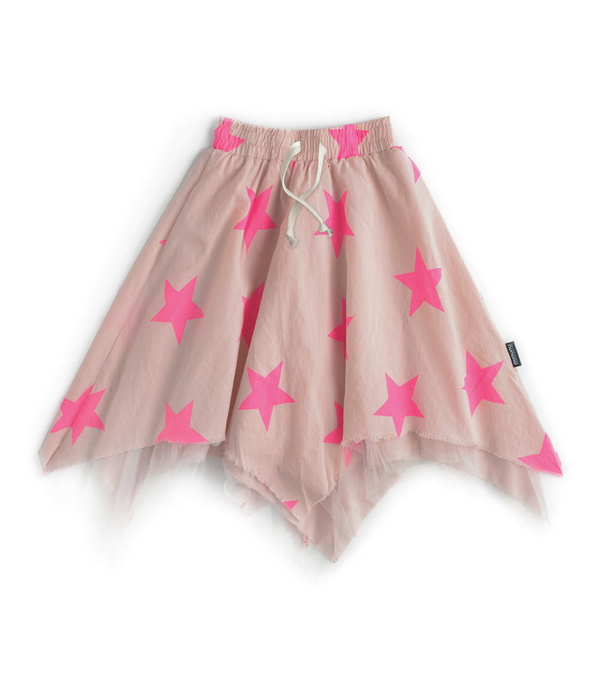 Girls Pink Stars Skirt