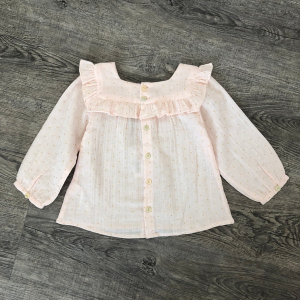 Baby Girls Light Pink Cotton Blouse