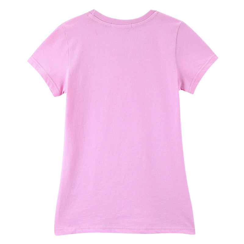 Girls Pink Cotton T-Shirt With Multicolor Chick Prin - CÉMAROSE | Children's Fashion Store - 2