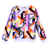 Girls Multicolor Printed Cotton Sweatshirt - CÉMAROSE | Children's Fashion Store - 1