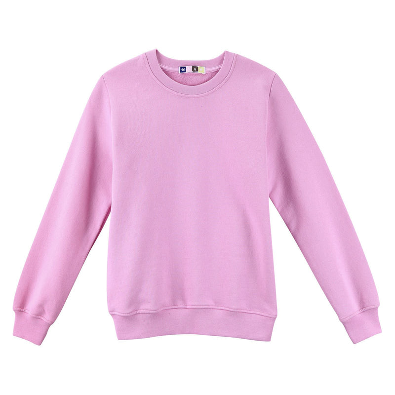 Girls Pink Cotton Sweatshirt With Ribbed Cuffs - CÉMAROSE | Children's Fashion Store - 1