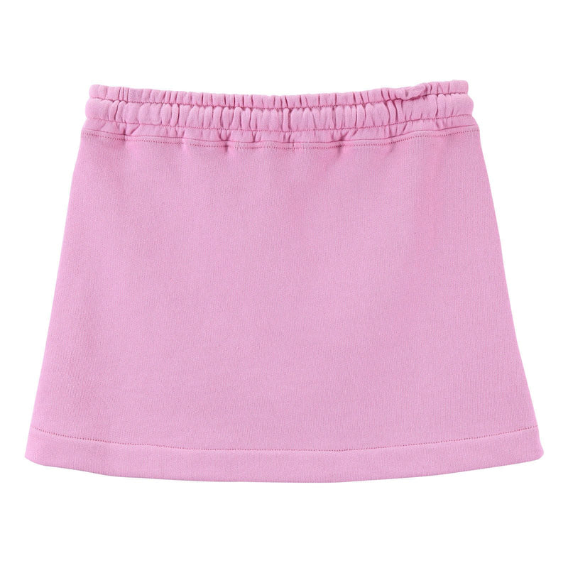 Girls Pink Cotton Skirt With Patch Logo - CÉMAROSE | Children's Fashion Store - 3