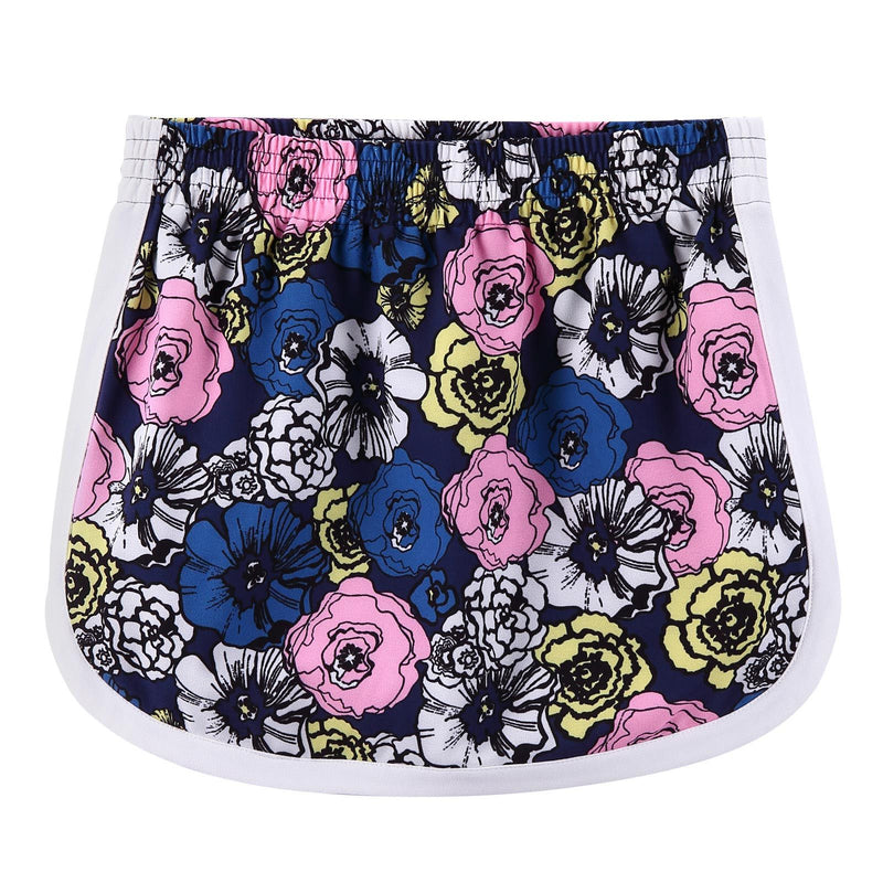 Girls  Multicolor Flower Printed Crepe Skirt - CÉMAROSE | Children's Fashion Store - 1