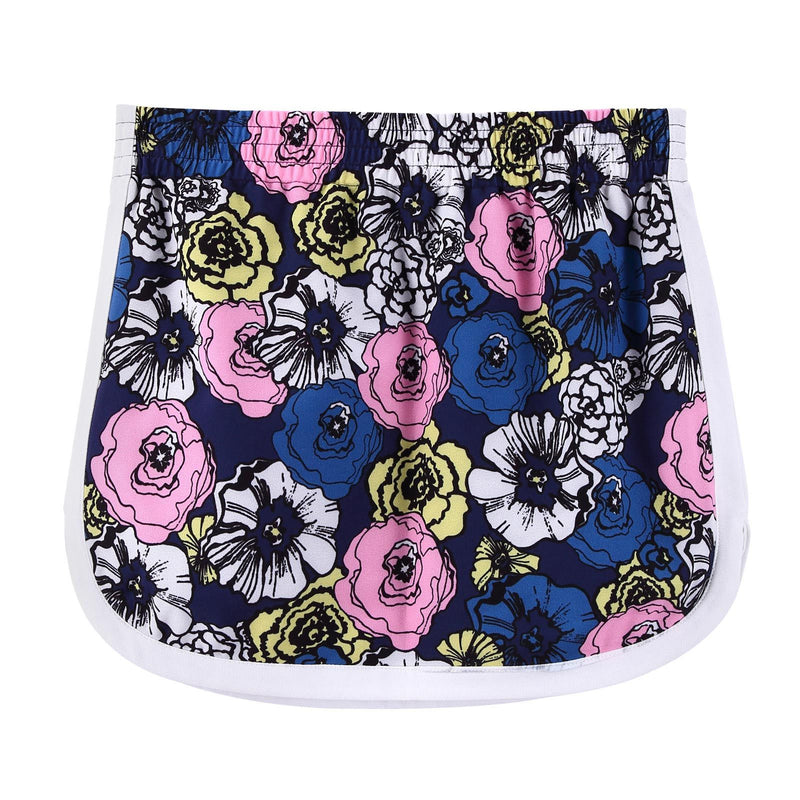 Girls  Multicolor Flower Printed Crepe Skirt - CÉMAROSE | Children's Fashion Store - 2