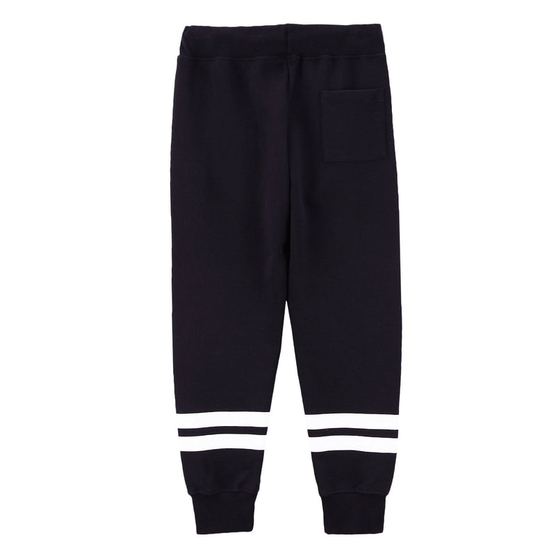 Boys Black Cotton Trousers With White Stripe Trims - CÉMAROSE | Children's Fashion Store - 2