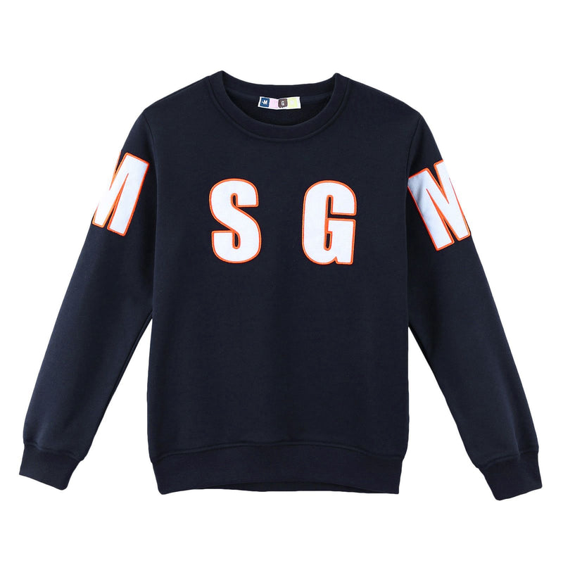 Boys Blue Knitted Sweatshirt With Brand  Logo - CÉMAROSE | Children's Fashion Store - 1