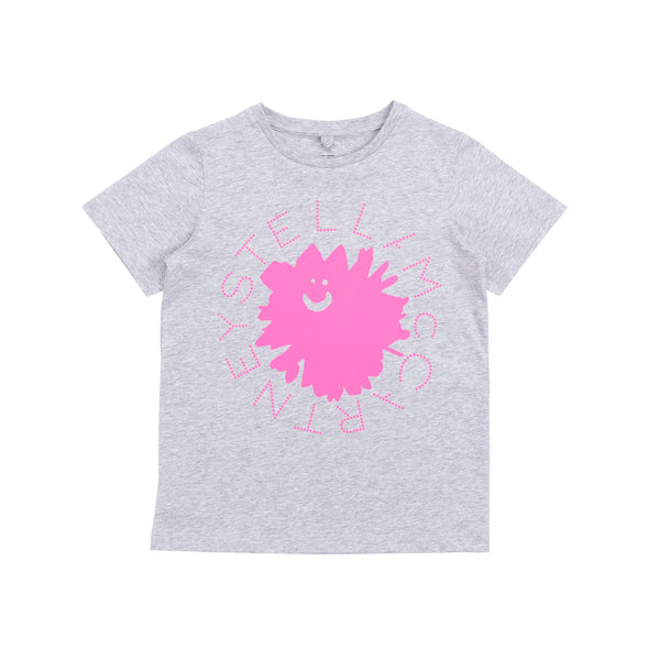 Girls Grey Thunder Cotton T-Shirt