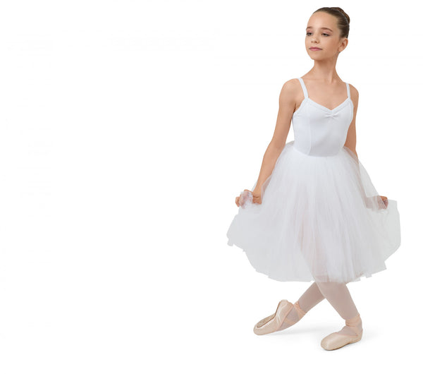 Girl White Rehearsal Tulle Skirt