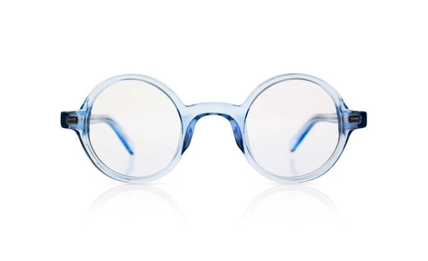'Harry' Transparent Blue Sunglasses