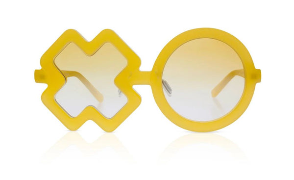 'Xo' Mango Yellow Sunglasses