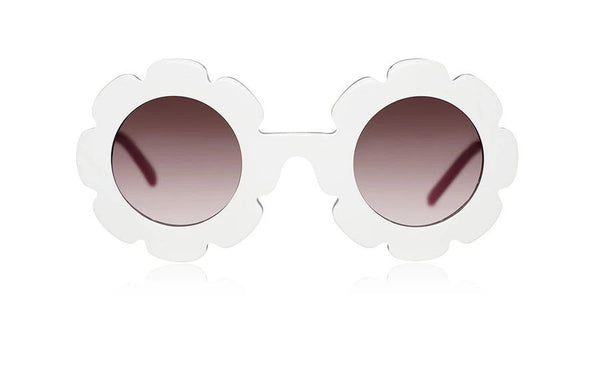 'Pixie' White Sunglasses