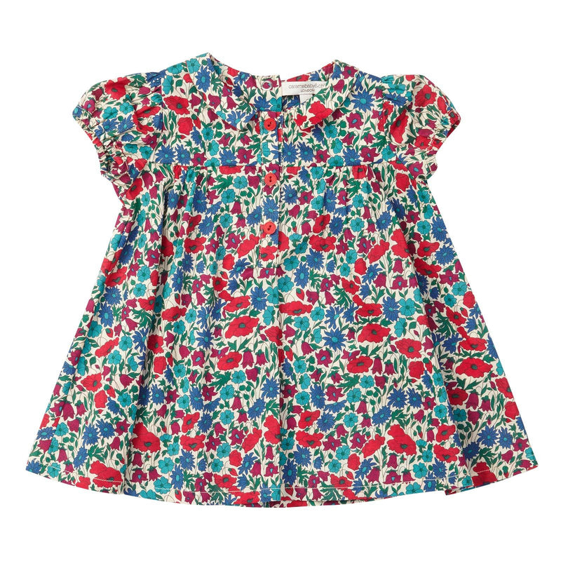 Baby Girls Multicolor Cotton Poppy Printed Dress - CÉMAROSE | Children's Fashion Store