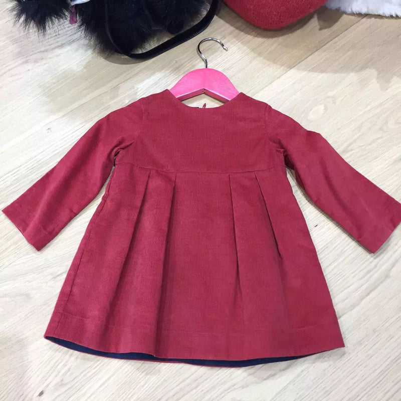Baby Girls Red Cord Dress - CÉMAROSE | Children's Fashion Store
