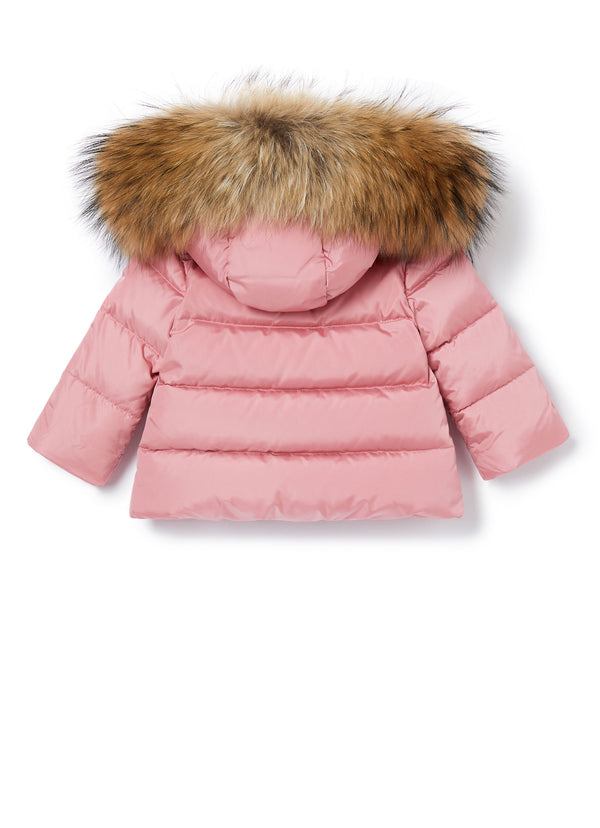 Baby Girls Cameo Rose Padded Down Jacket