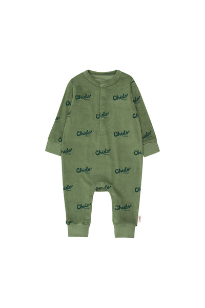 Baby Boys Green Cotton Babysuits