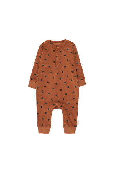 Baby Boys Brown Cotton Babysuits