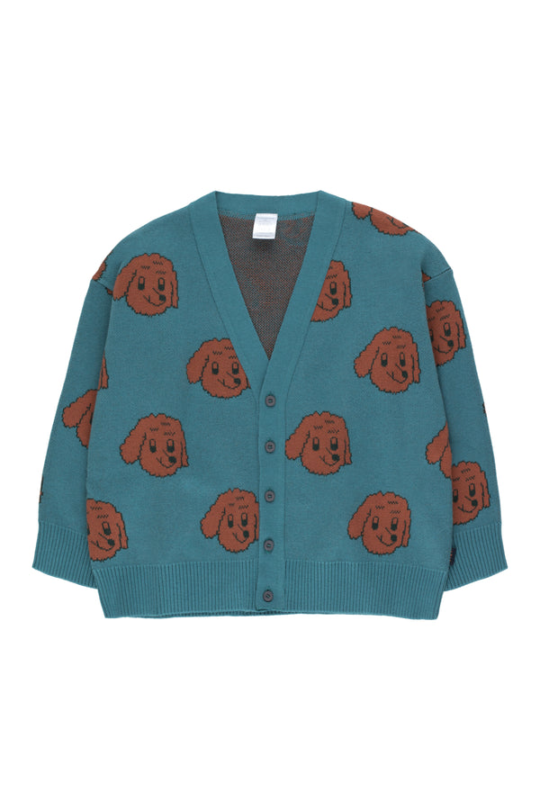 Boys & Girls Sea Blue Dog Cardigan
