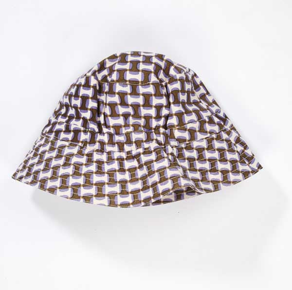 Baby Lilac Geo Print Cotton Hat