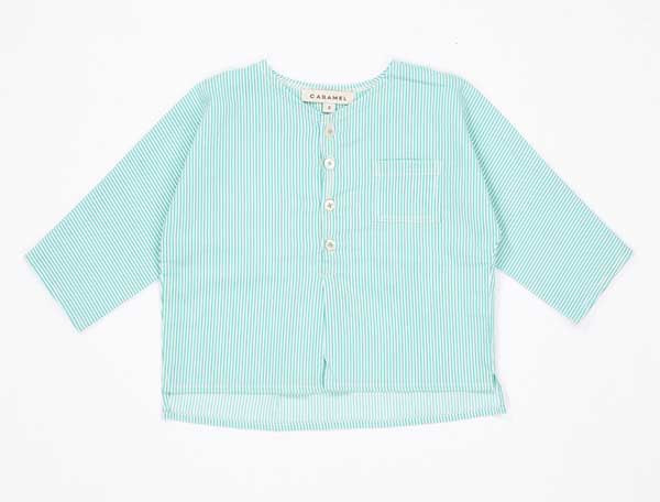 Baby Mint Cotton Shirt
