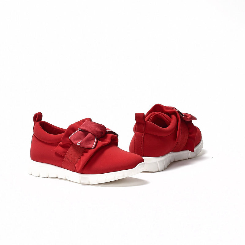 Girls Red With Logo Shoes