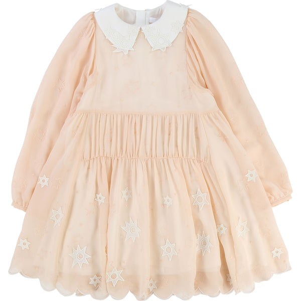 Girls Light Pink Soie Dress