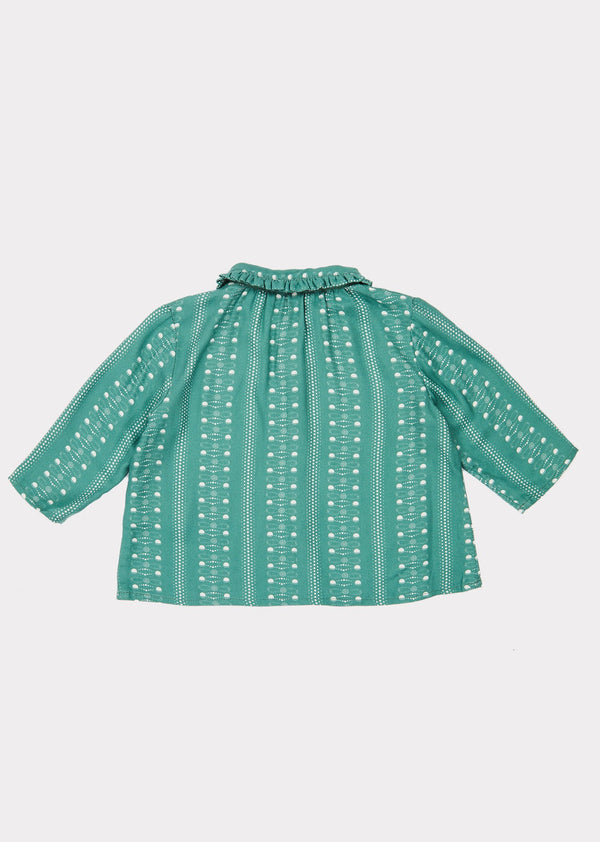 Baby Girls Teal Doty Blouse