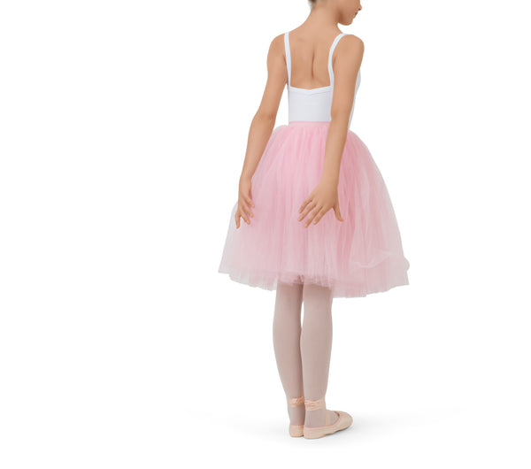 Girl Pink Long Tulle Skirt