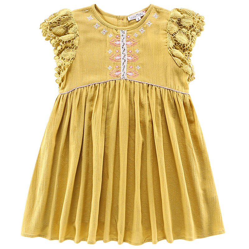"Girls Mustard ""Java"" Dress"