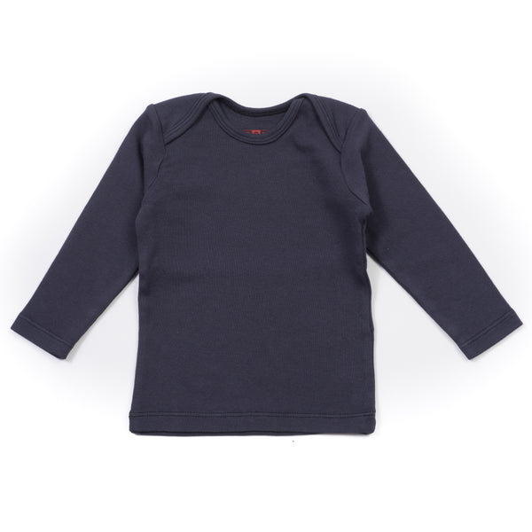 Baby Boys Navy Blue Cotton T-shirt