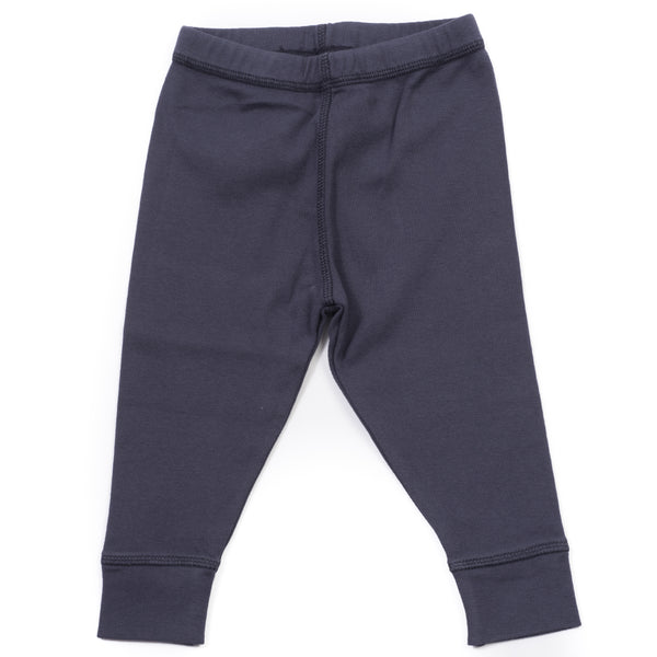 Baby Boys Navy Blue Cotton Leggings