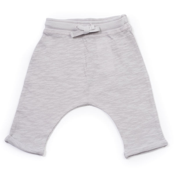 Baby Boys Grey Cotton Trousers