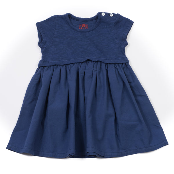 Baby Girls Blue Charlemagne Cotton Dress