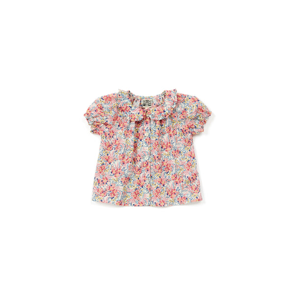 Baby Girls Pink Flowers Cotton Top