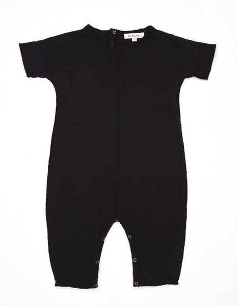 Baby Black Cotton Babysuit