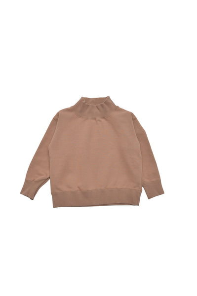 Girls Camel Turtleneck Sweater