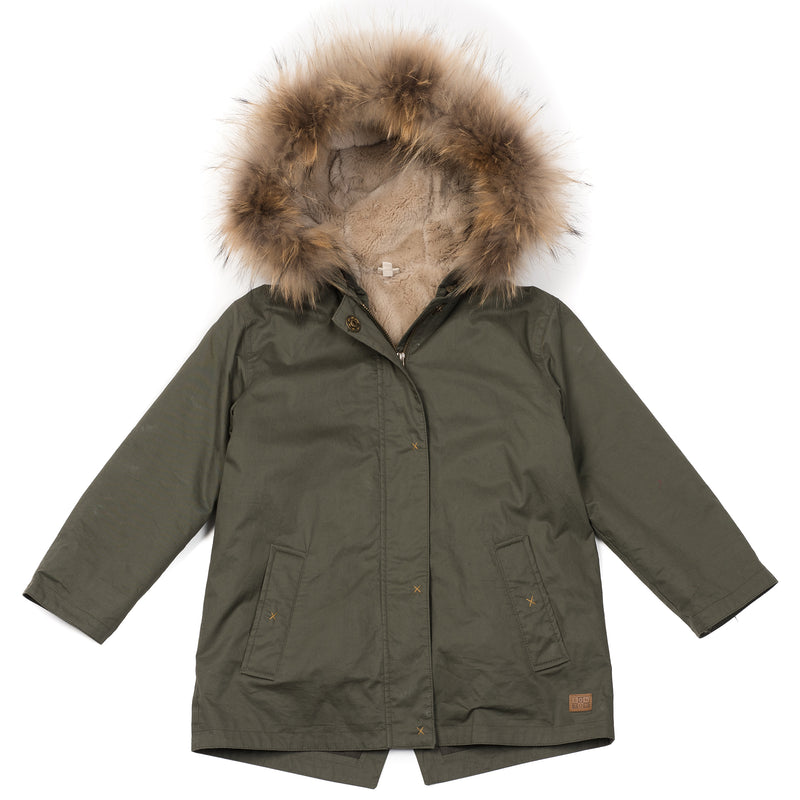 Girls Vert Scarabee Cotton Coat