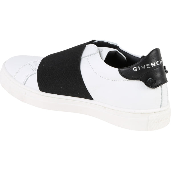 Girls White Black Cuir Shoes