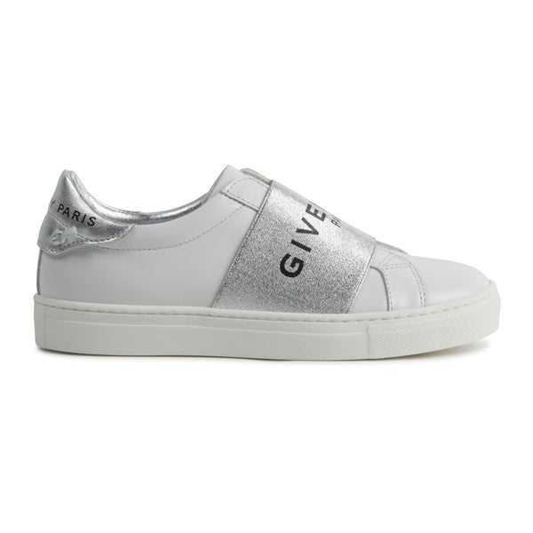 Girls White Logo Leather Shoes