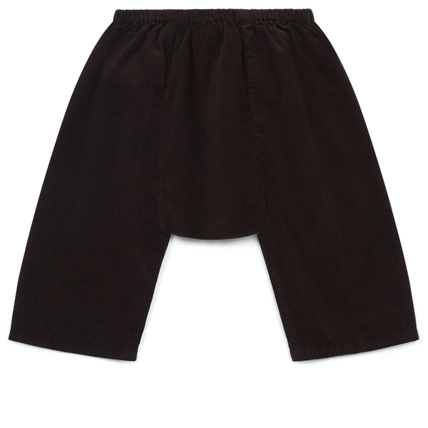 Baby Boys & Girls Dark Brown Cotton Trousers