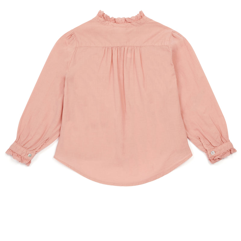 Girls Pink Cotton Shirt