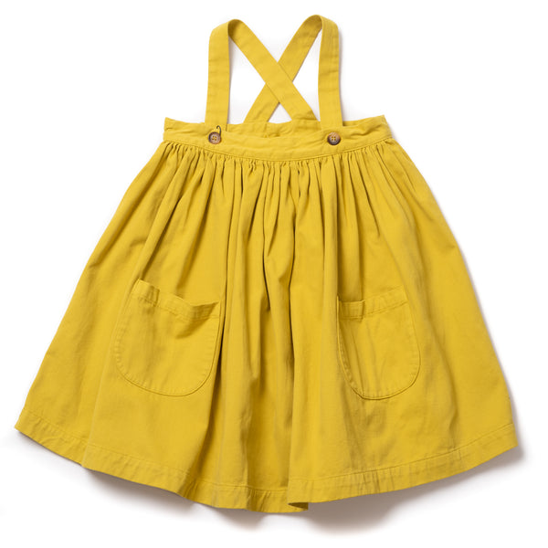 Girls Ginger Bretelle Cotton Skirt