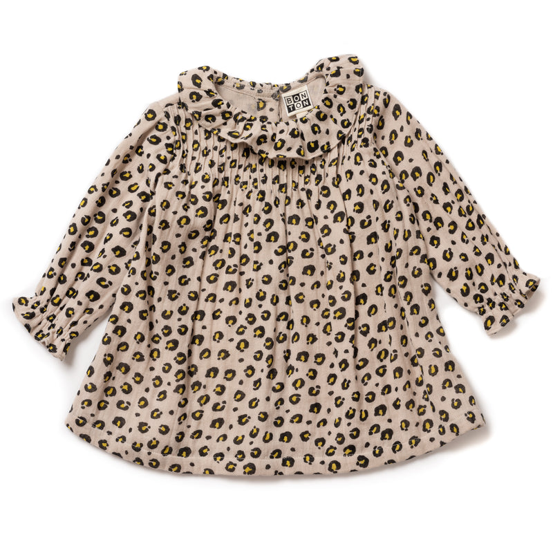 Baby Girls Imp Leopard Cotton Dress