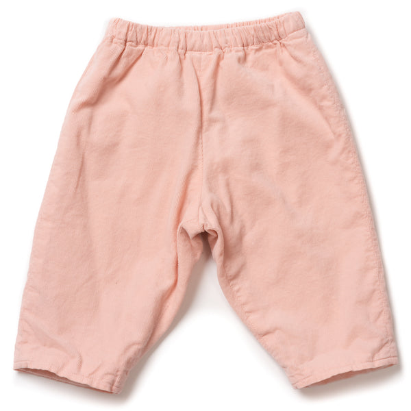 Baby Boys & Girls Pink Velvet Double Cotton Pants