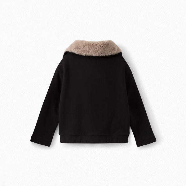 Boys & Girls Black Fur Coat