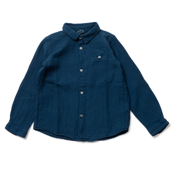 Boys & Girls Blue Organic Cotton Shirt
