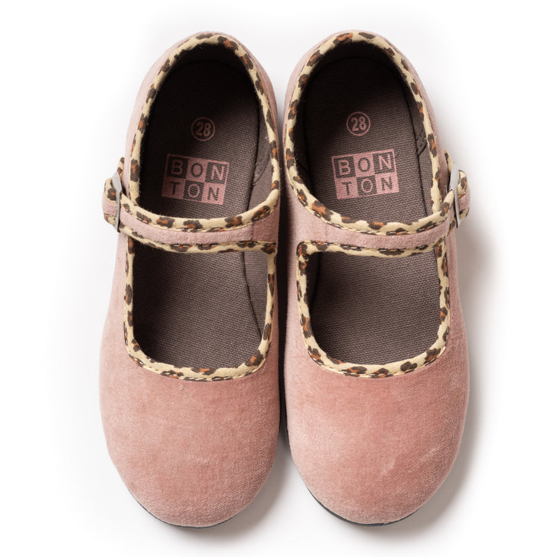 Baby Girls Beige Rose Cotton Shoes