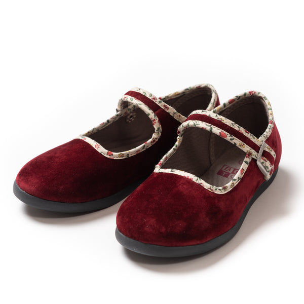 Girls Bordeaux Red Shoes